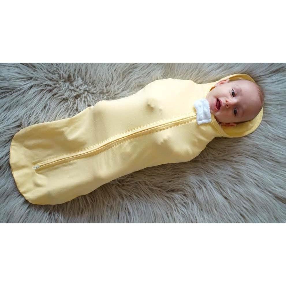 spanok-novorodenca-mimi-zlta-zavinovacka-na-zips