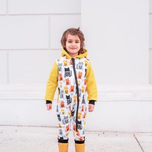 softshell detský overal žltý