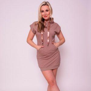 mikinové šaty z teplákoviny